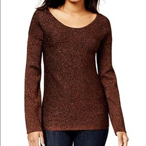 New Bar III Twisted open-back knit sweater small